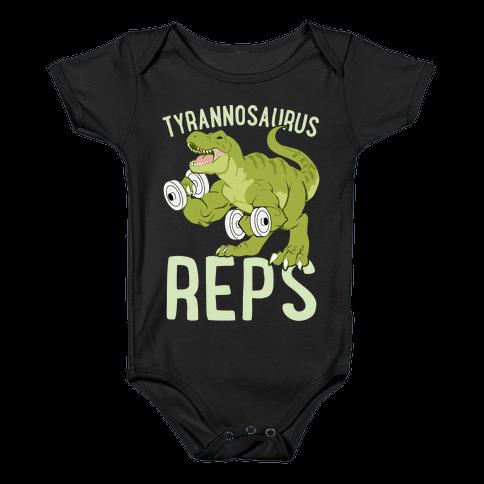 Tyrannosaurus Reps Baby Onesy