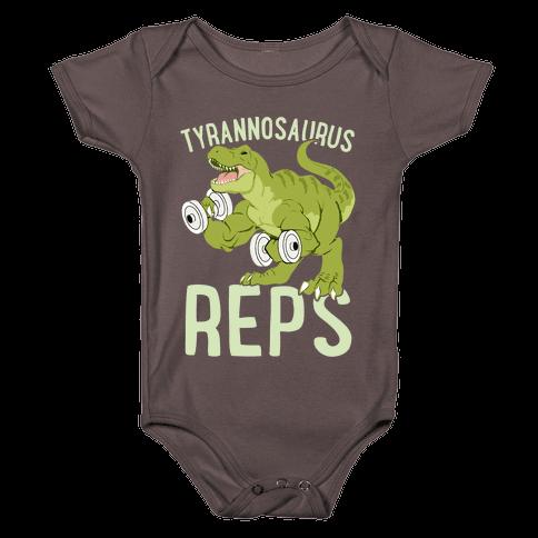 Tyrannosaurus Reps Baby One-Piece