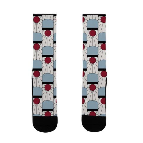 Tanjiro Earrings Pattern Sock