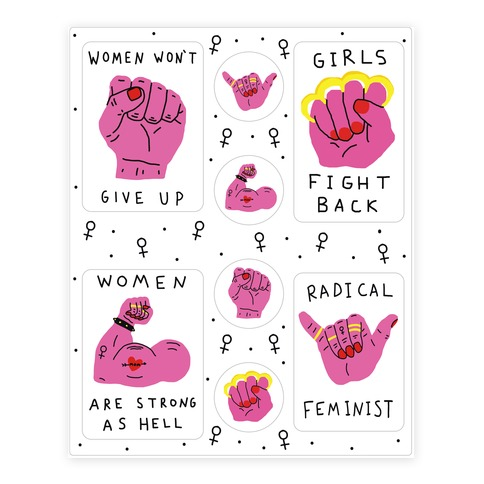 Women Are Strong As Hell Sticker/Decal Sheet