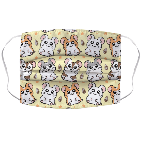 Cute Hamster Pattern Accordion Face Mask