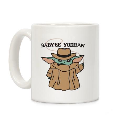 Babyee Yodhaw (Baby Yoda Cowboy) Coffee Mug