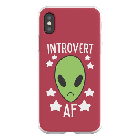 Introvert AF Phone Flexi-Case