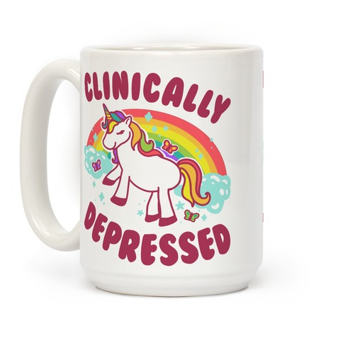 Clinically Depressed Unicorn Coffee Mug