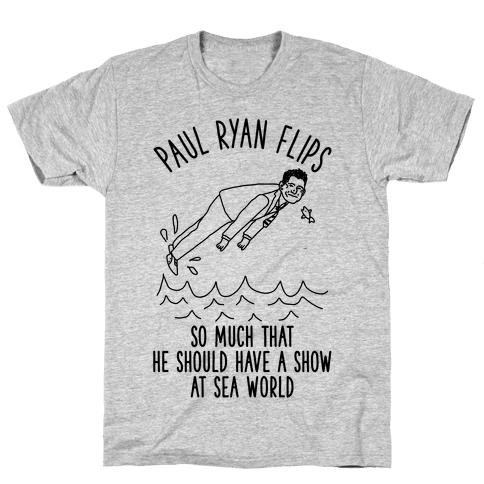 Paul Ryan Flips Mens T-Shirt