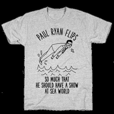 Paul Ryan Flips Mens T-Shirt