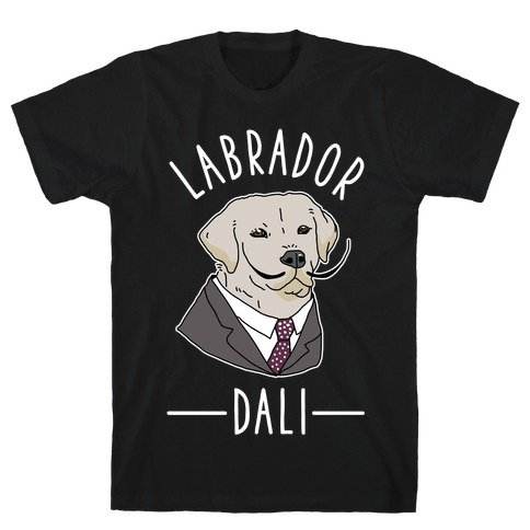 Labrador Dali  Mens T-Shirt