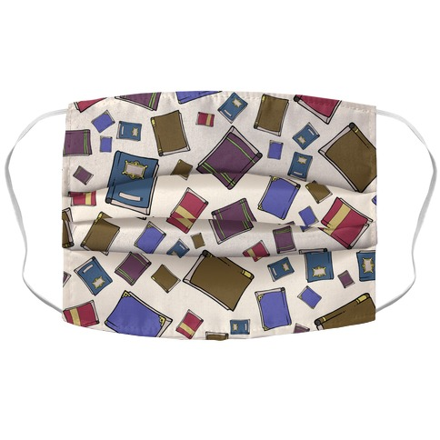 Book Collection Pattern Accordion Face Mask