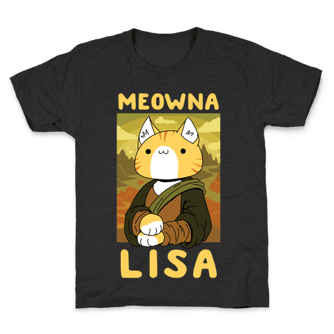 Meowna Lisa Kids T-Shirt