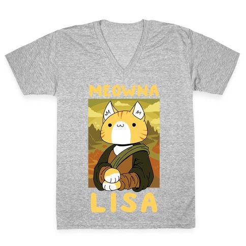 Meowna Lisa V-Neck Tee Shirt