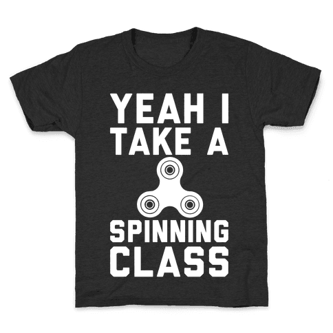 Yeah I Take A Spinning Class White Print Kids T-Shirt