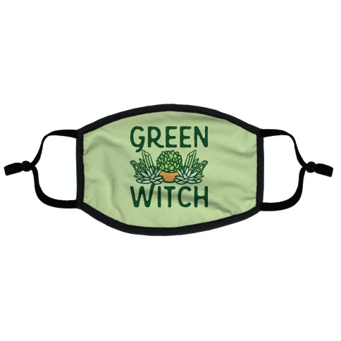 Green Witch Flat Face Mask