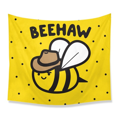 Beehaw Cowboy Bee Tapestry