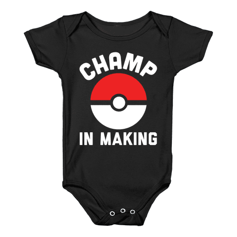 Champ in Making Baby Onesy
