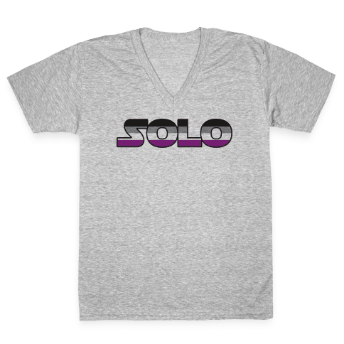 Solo (Asexual) V-Neck Tee Shirt