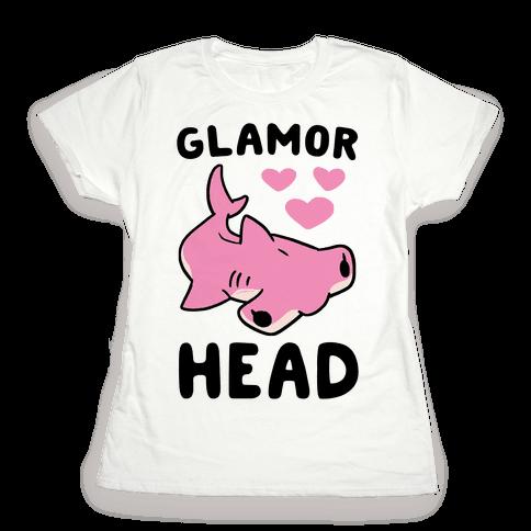 Glamor Head - Hammerhead Shark Womens T-Shirt