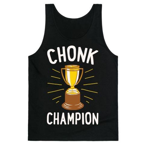 Chonk Champion White Print Tank Top