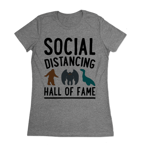 Social Distancing Hall of Fame Womens T-Shirt