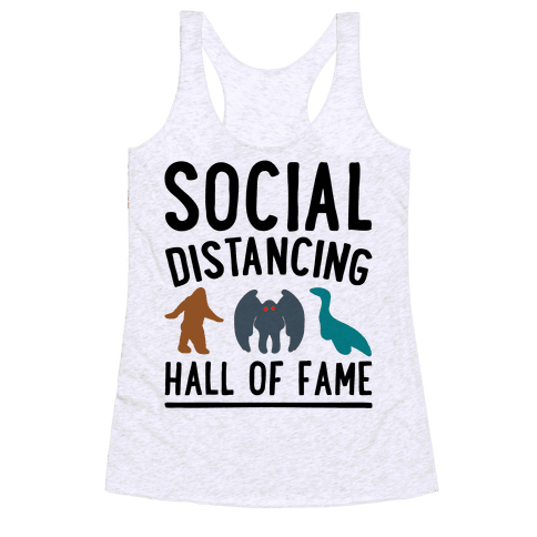 Social Distancing Hall of Fame Racerback Tank Top