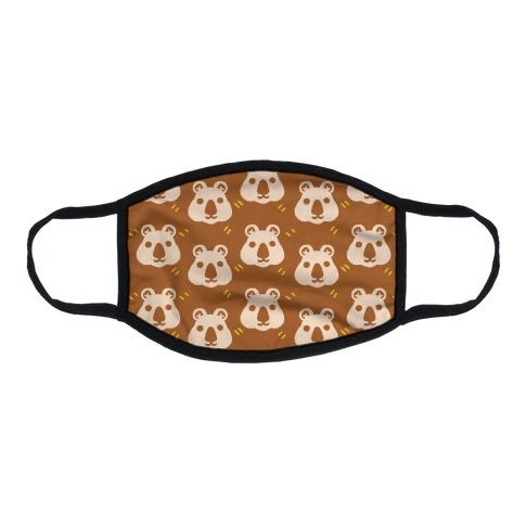 Cute Wombat Boho Pattern Flat Face Mask
