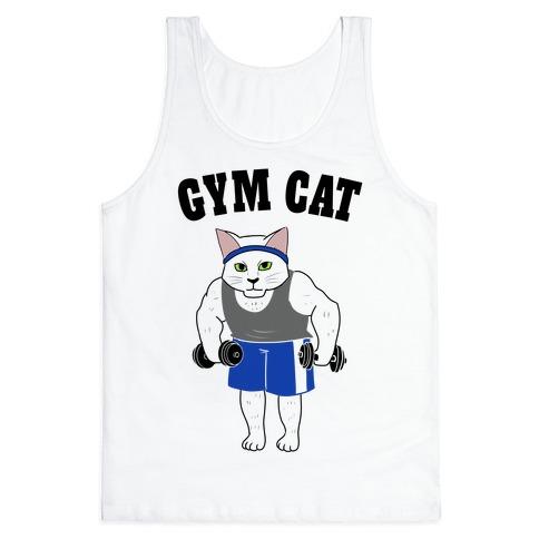 Gym Cat Tank Top