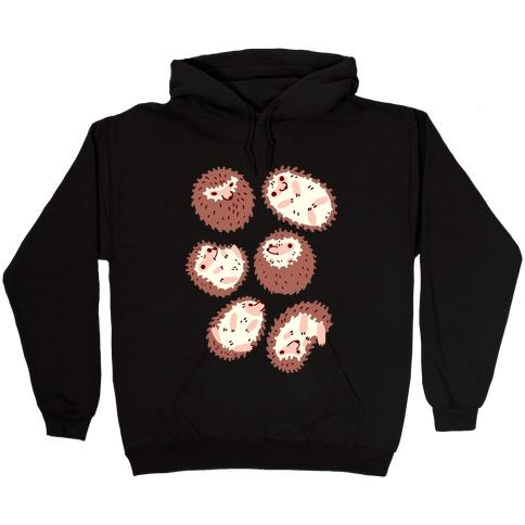 Floaty Hedgehogs Hooded Sweatshirt