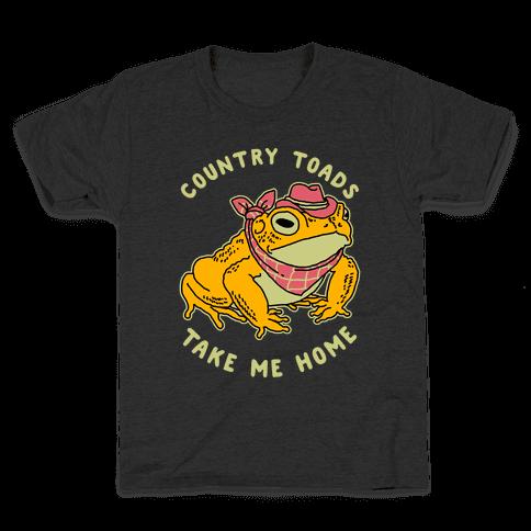Country Toads Take Me Home Kids T-Shirt