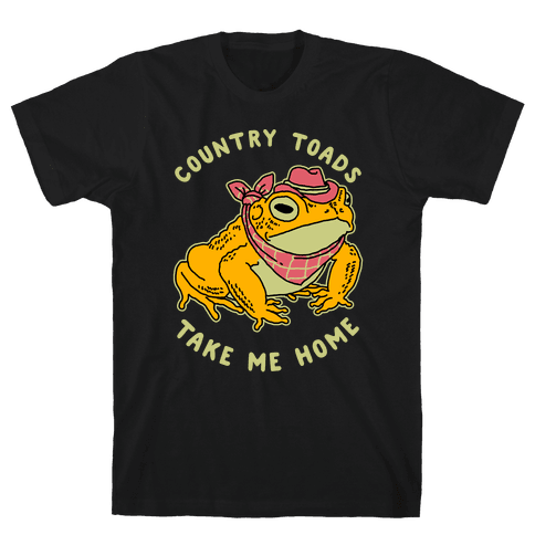 Country Toads Take Me Home Mens/Unisex T-Shirt