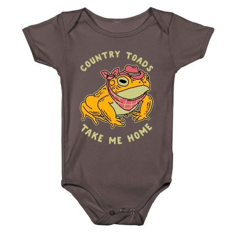 Country Toads Take Me Home Baby One-Piece
