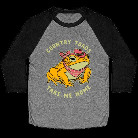Country Toads Take Me Home Baseball Tee