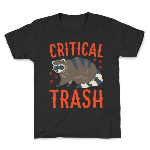 Critical Trash Raccoon Parody White Print Kids T-Shirt