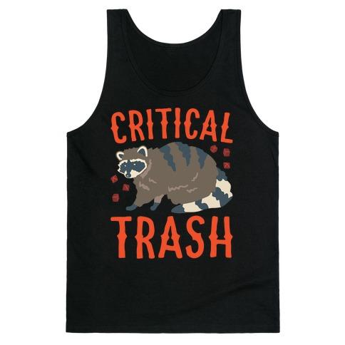 Critical Trash Raccoon Parody White Print Tank Top