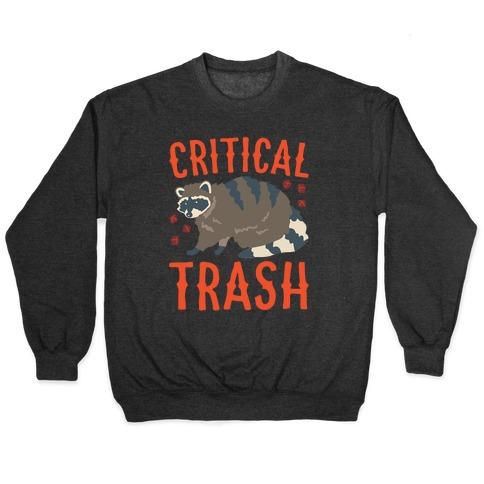 Critical Trash Raccoon Parody White Print Pullover