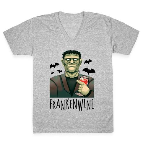 Frankenwine V-Neck Tee Shirt