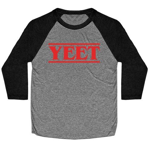Yeet Stranger Things Parody Baseball Tee