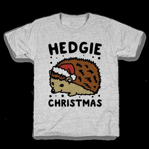 Hedgie Christmas Kids T-Shirt