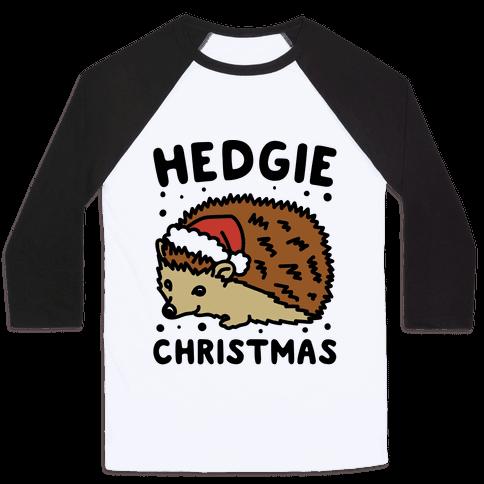 Hedgie Christmas Baseball Tee
