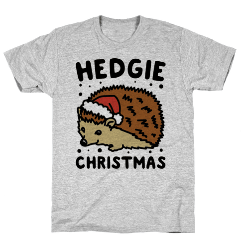 Hedgie Christmas Mens T-Shirt