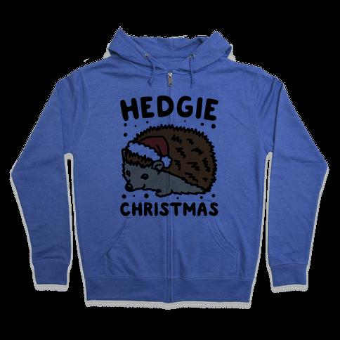Hedgie Christmas Zip Hoodie