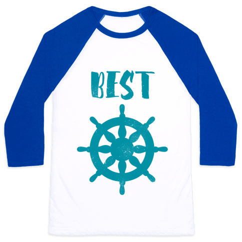 Best Mates Wheel (cmyk) Baseball Tee