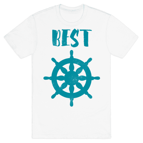 Best Mates Wheel (cmyk) Mens T-Shirt