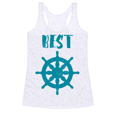 Best Mates Wheel (cmyk) Racerback Tank Top