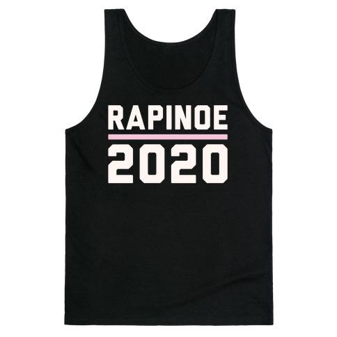 Rapinoe 2020 White Print Tank Top