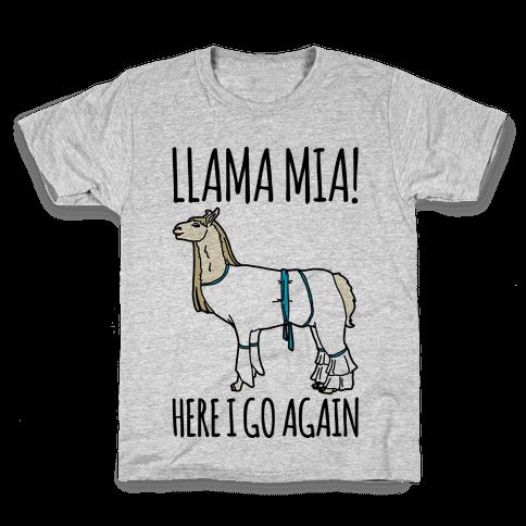Llama Mia Parody Kids T-Shirt