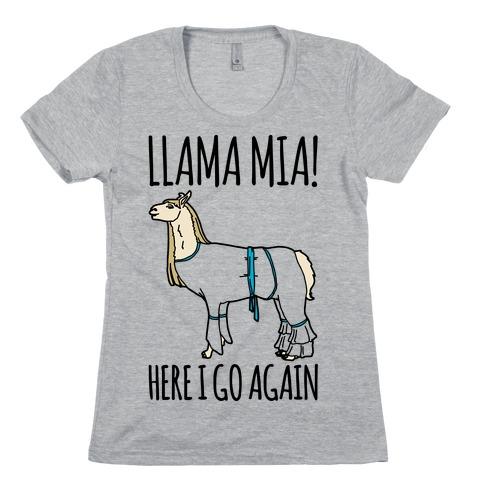 Llama Mia Parody Womens T-Shirt