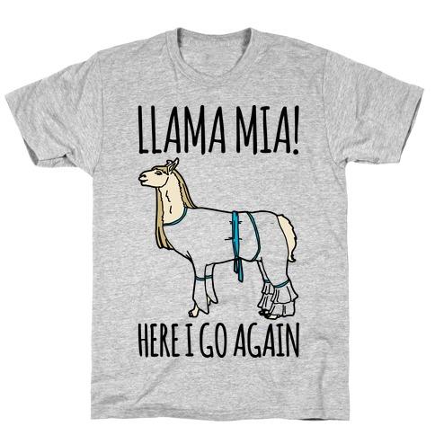 Llama Mia Parody Mens T-Shirt