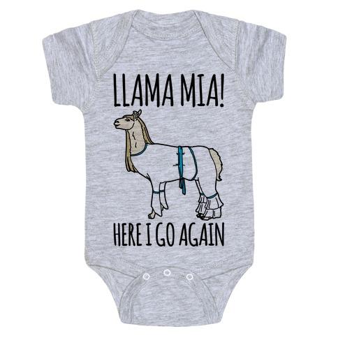 Llama Mia Parody Baby Onesy