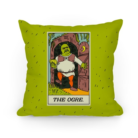 The Ogre Tarot Card Pillow