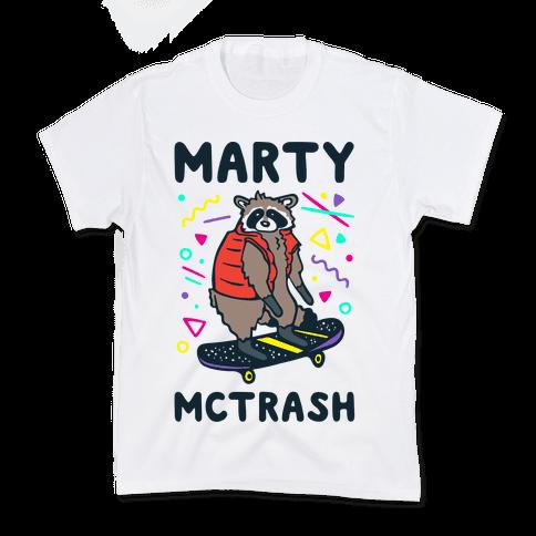 Marty McTrash Raccoon Parody Kids T-Shirt