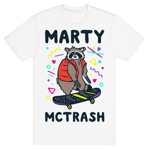 Marty McTrash Raccoon Parody Mens/Unisex T-Shirt